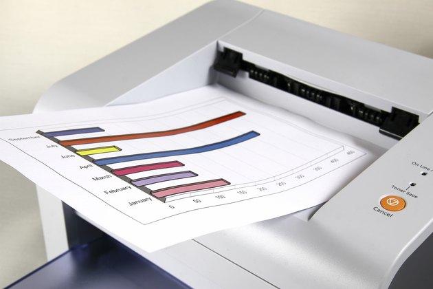 Printed sales report and laser printer