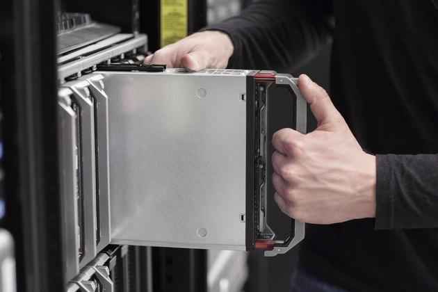 IT consultant installs Blade Server