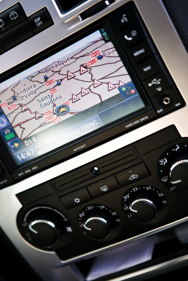 Close-up of GPS in vehicle