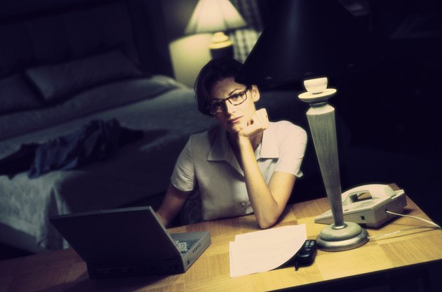 Young businesswoman using a laptop