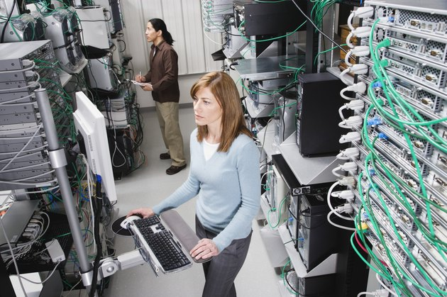 Computer Technicians in Server Room