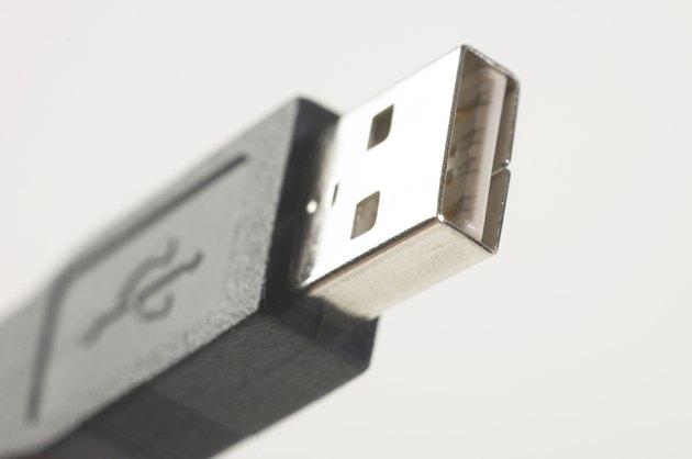 Close-up of USB computer plug
