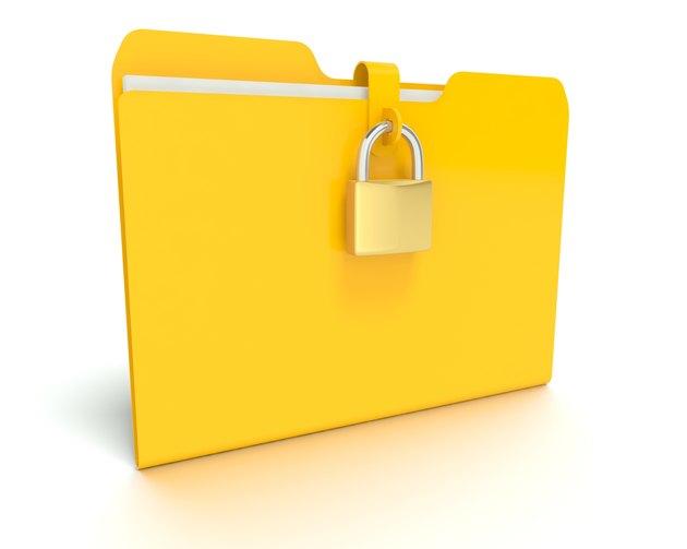 Security lock that is locking a Folder