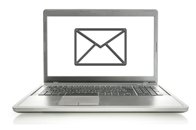 Laptop with mail icon