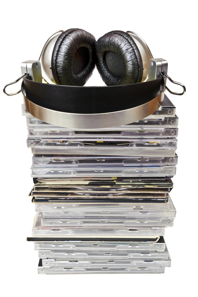 Headphones and cd collection