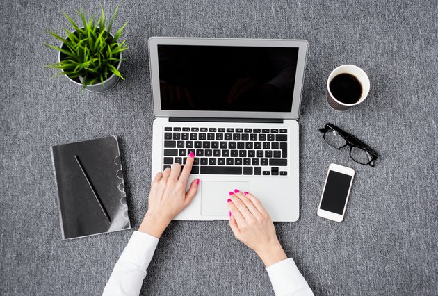 Professional woman working with computer