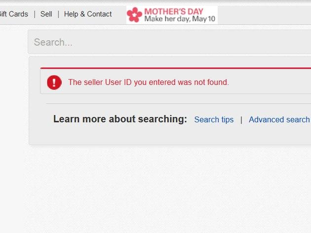 User not found