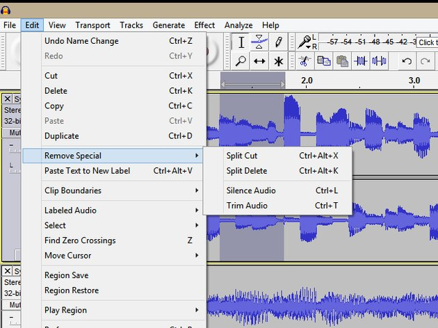 Remove Special Editing Tools
