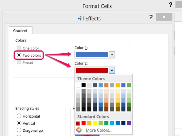 Click More Colors and then Custom for a full RGB color picker.