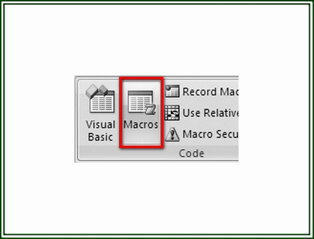 Click on the Macros button to display the Macro dialog box from which you can select the Macro to copy.