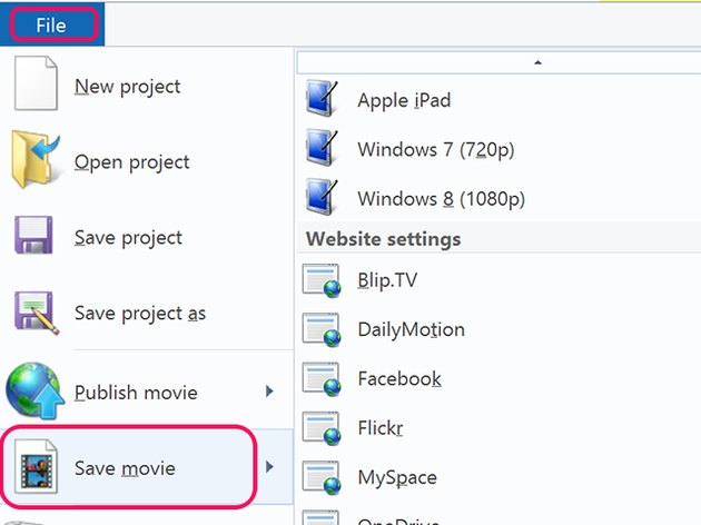 Select Save Movie from the File menu.