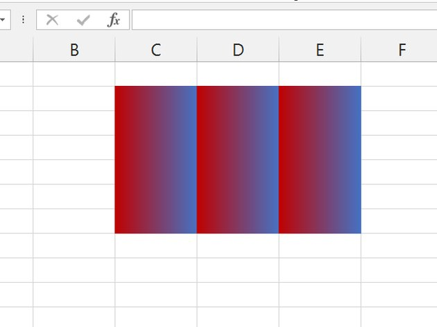 A Vertical style applied across several rows and columns.