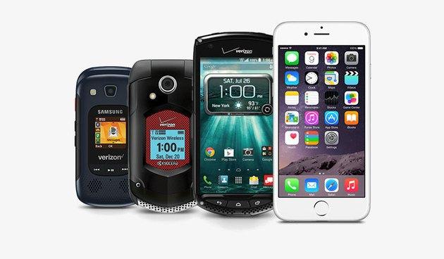 Photo of Push-to-Talk capable Verizon Wireless cell phones.