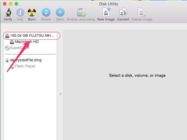 Click hard drive name