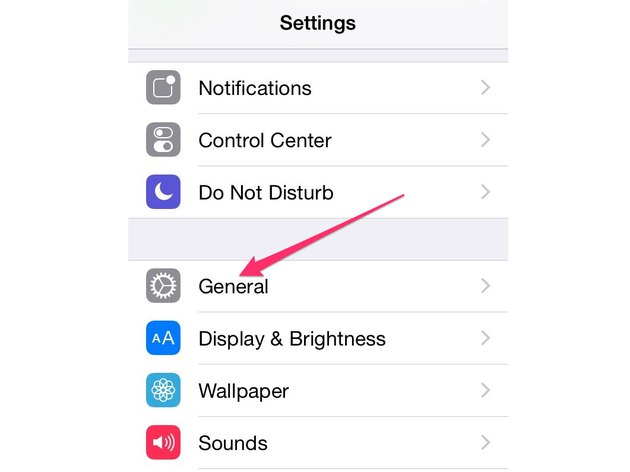 Open the General Settings.