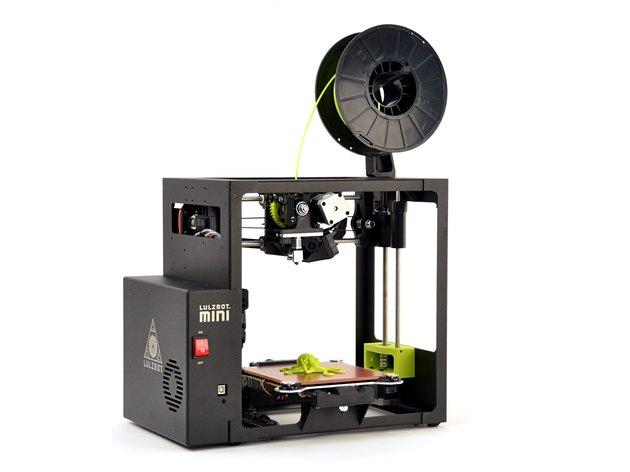 The LulzBot Mini 3D printer.