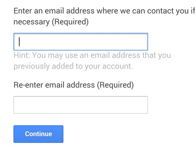 Provide an email address.