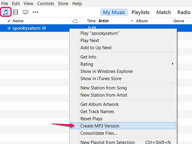 Create the MP3.