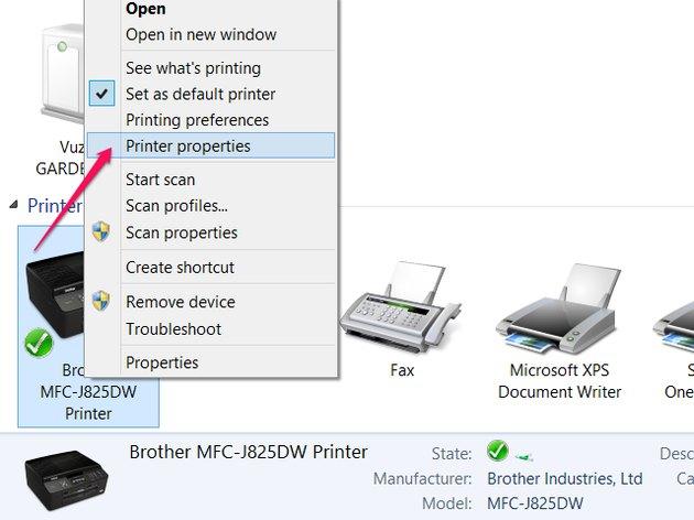 Open the printer's properties.