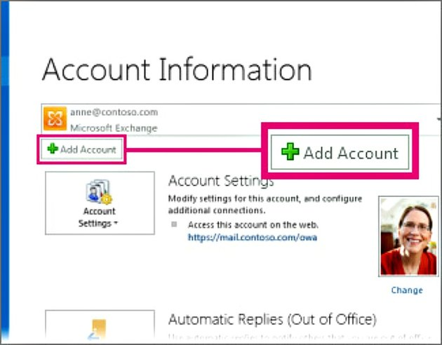 Screenshot - Outlook - Add Account