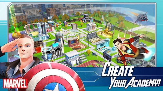 Play Captain America as a teen in Marvel Avengers Academy,