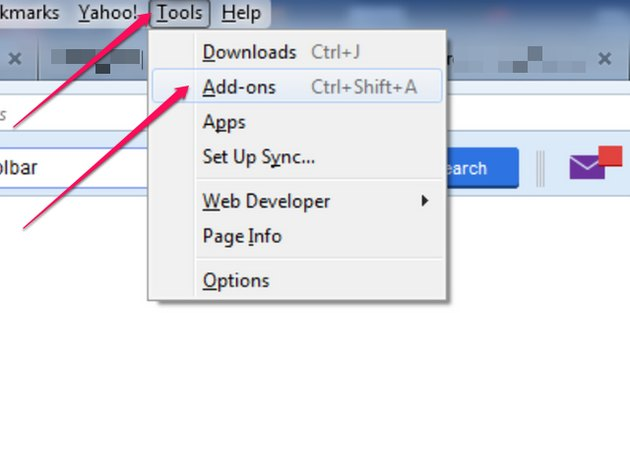 Go to Add-ons page through the Tools main menu button.