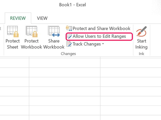 Click Allow Users to Edit Ranges.