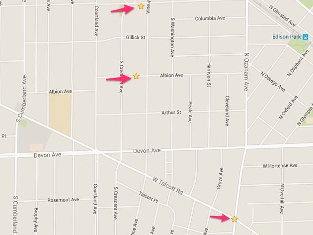 Favorite locations