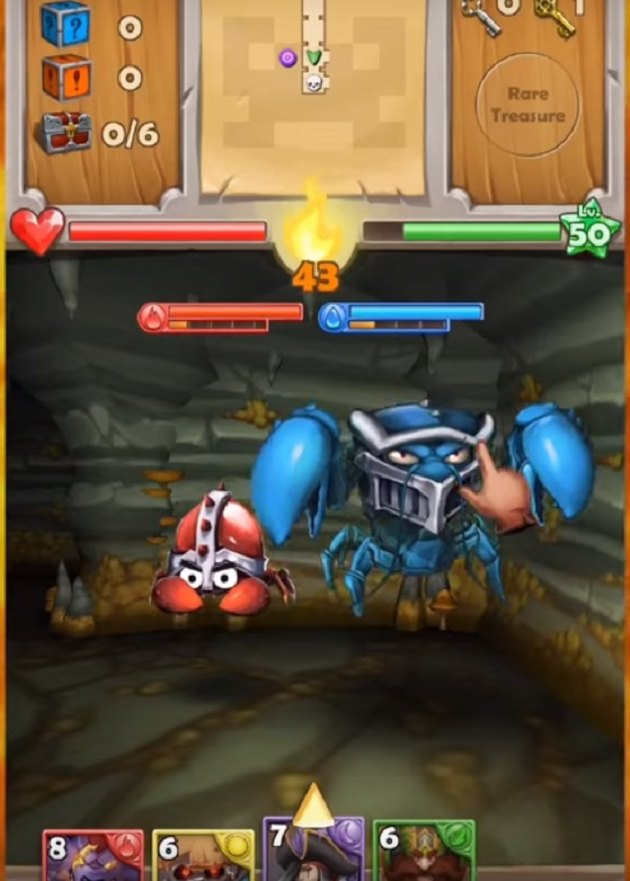 A screenshot from Dungeon Monsters to be released in March.