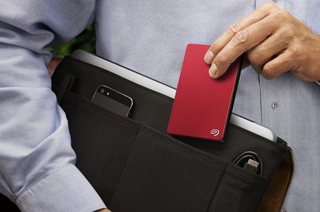 Portable Seagate Slim hard drive