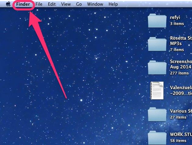 Finder on a Mac