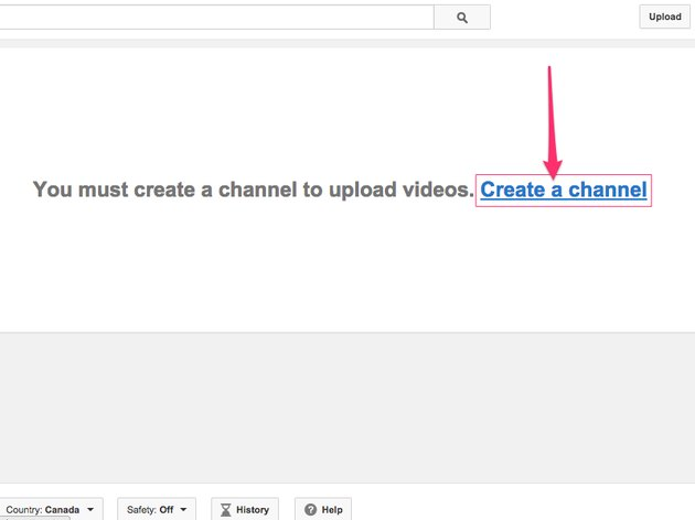 You can't upload videos to YouTube until you create your channel.