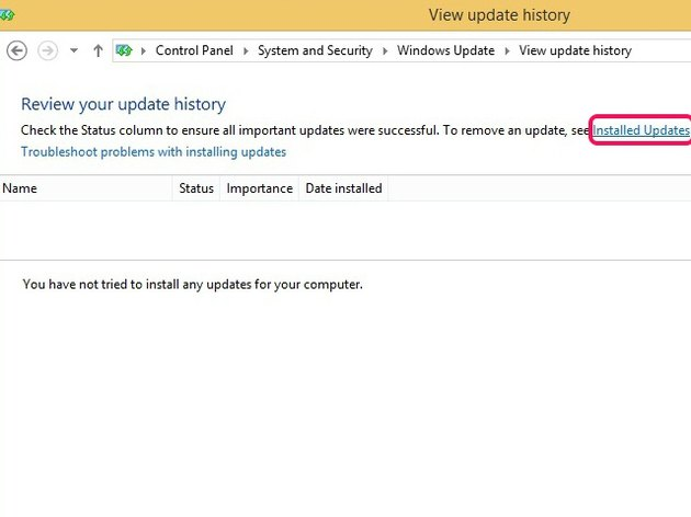Deleting Windows Update log files removes all history.