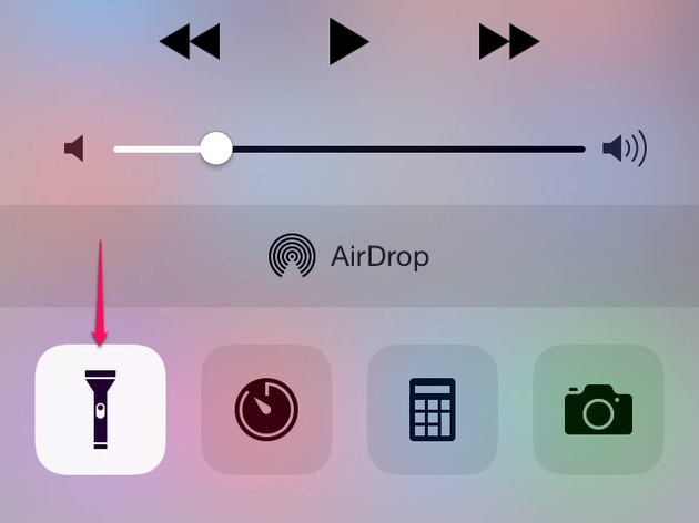 Flashlight in Control Center.