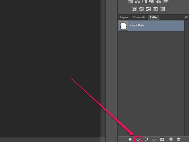 The Paths panel in Photoshop.