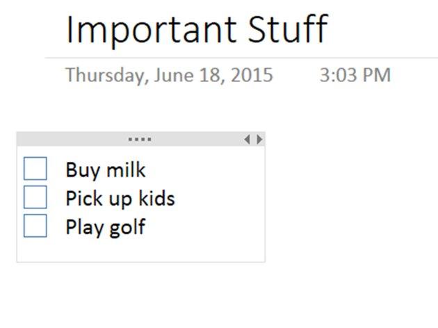Write your to-do list.