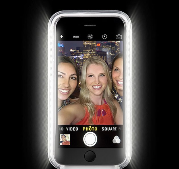 A light-up phone case like LuMee offers soft illumination for better selfies.