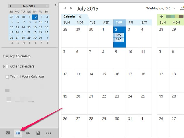 Click the Calendar icon.