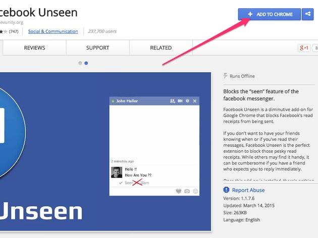 Facebook Unseen (Chrome)