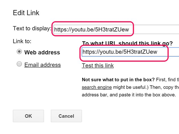 Paste the link.