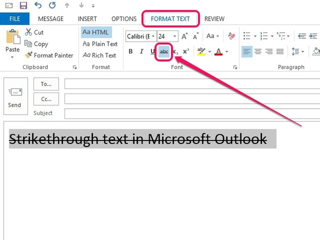 Apply strikethrough formatting.