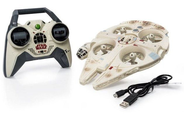 The Air Hogs Star Wars Millennium Falcon drone.