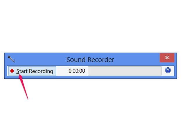 Record a message in Sound Recorder.