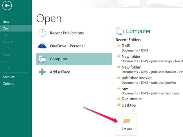 Locate the Word document you want to import.