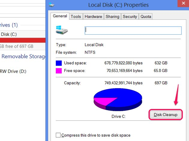 Running Disk Cleanup
