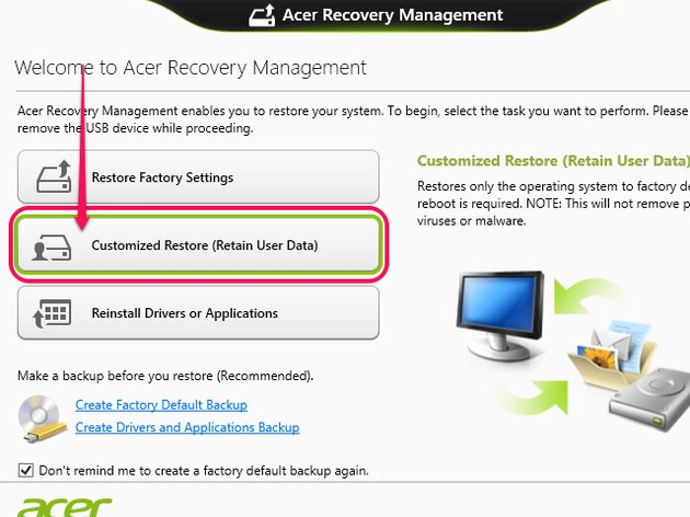 Acer Recovery Management