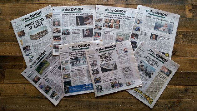 The Onion front pages
