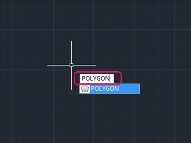 Type POL or POLYGON.