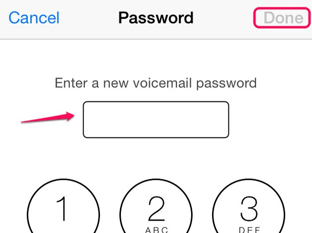 Type a new password in the box.