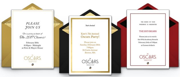 Invitations to Oscars party
